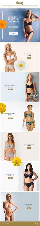 Newsletter wiosenny dla sklepu Corin #Corin #wiosna #newsletter