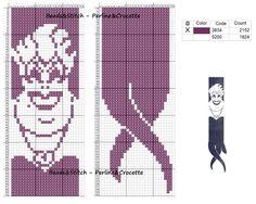 I am making this in perler beads AS WE SPEAK. Cross stitch chart Disney Villain Ursula ( Little Mermaid ) Cross Stitch Bookmarks, Cross Stitch Books, Cross Stitch Charts, Disney Cross Stitch Patterns, Cross Stitch Designs, Crochet Cross, Crochet Chart, Cross Stitching, Cross Stitch Embroidery