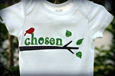 Adoption Onesie Chosen Baby Chosen by God Forever by NurtureMe, $24.00
