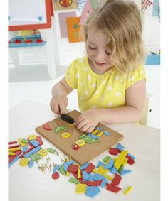 Educational Toys and Games. ELC Tap A Shape. Tap A Shape with cork board, hammer, tacks and shapes. #Kids #Toys #Fun