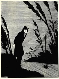 """Harry Clarke (Irish, 1889-1931), """"Midst of all was a cold white face"""", illustration from The Year's at the Spring: An Anthology of Recent Poetry (Turnbull & Spears, Edinburgh, 1920)  via"""