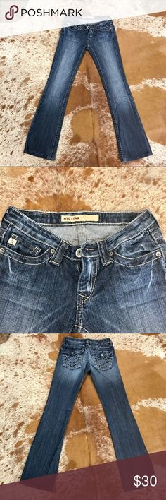 """👖Big Star Jeans Size 24 Big Star Jeans... 13"""" waist... 7"""" from waist to crotch... 29.5"""" inseam... please ask any questions you may have Big Star Jeans Boot Cut"""