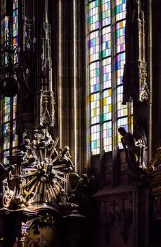 Stained glass window, St. Stephen's Cathedral, Vienna