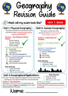This is a revision companion guide linked with the 'CGP GCSE AQA Geography Course' book. The booklet contains personal learning checklists, keywords an. Gcse Geography Revision, Gcse Revision, Geography Lessons, Teaching Geography, Human Geography, Physical Geography, World Geography, Geography Classroom, Geography Quotes