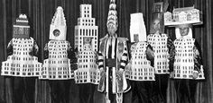 Skyline for masque ball! -  Beaux Art fete features novel architectural costumes