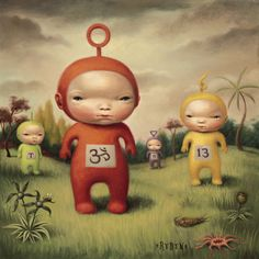 Tubbies, by Mark Ryden. (Oil on panel, 1998).