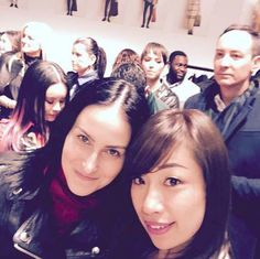 Before meeting Christopher Bailey backstage (with Miss Gogo from Burberry)after theThe Burberry Prorsum Autumn Winter 2015 Womenswear Show.