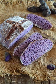 Pan de patata violeta - Bite-sized Tutorial and Ideas Bread Art, Pan Bread, Bread Baking, Bread Recipes, Vegan Recipes, Cooking Recipes, Traditional Bread Recipe, Salty Foods, Rainbow Food