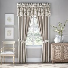 Shop for Croscill Anessa Pole Top Drapery Panels. Get free delivery On EVERYTHING* Overstock - Your Online Home Decor Outlet Store! Modern Window Treatments, Valance Window Treatments, Window Treatments Living Room, Living Room Windows, Outdoor Curtains, Cool Curtains, Drapery Panels, Panel Curtains, Window Panels