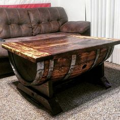 Cut a whisky barrel in half and made the table top from 2x10 and 2x6. I made this on a 9x6 apartment patio over the past few weeks. I like it but it could be a lot better if I made more space to work with