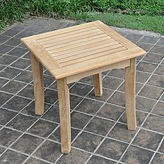 Add a touch of comfort to your backyard with an Kokomo side table. This outdoor table is the perfect addition to any patio or garden. Small Bedroom Furniture, Teak Furniture, Garden Furniture, Outdoor Furniture, Square Side Table, Side Tables, Outdoor Tables, Outdoor Decor, Outdoor Ideas