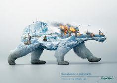 Destroying Nature – Une campagne de sensibilisation percutante en double exposition