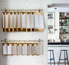 Stunning brass menu & drinks boards made specially in Sheffield for the award winning bar/restaurant Dante in New York Menu Restaurant, Cafe Menu, Restaurant Design, Comida Keto, Menu Boards, Menu Design, Branding Design, Small Plates, Simple Pleasures