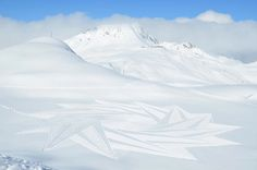 Snow art by Simon Beck  Giant geometric patterns made by an artist walking countless miles in the snow.