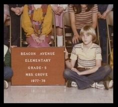Kurt Cobain at 10 years old.
