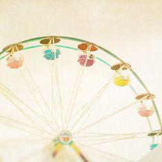Riesenrad Foto Zirkus Kunst Karneval Fotografie Beige von bomobob