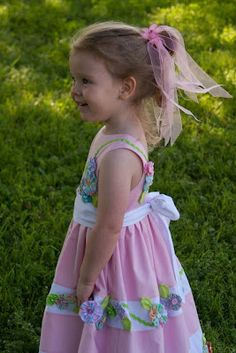 Annie in her Easter dress.