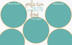 Teal Circles desktop wallpaper organizer