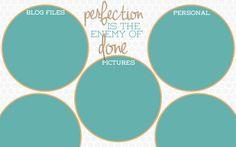 Teal Circles desktop wallpaper organizer