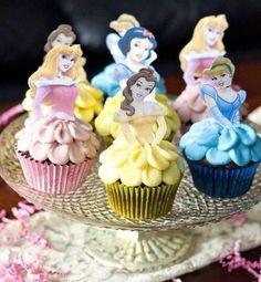 スカートが可愛い♪ディズニープリンセスのカップケーキ♡ @sutekisweets