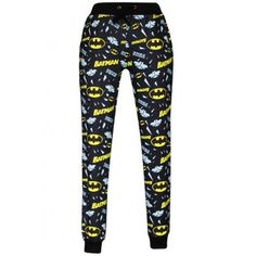Batman joggers via Soho Hollywood Fashion. Click on the image to see more!