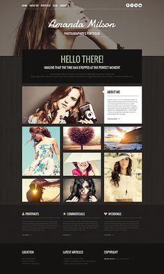 Template 48843 - Photography Responsive WordPress Theme Template Web, Theme Template, Wordpress Template, Website Template, Templates, Site Portfolio, Portfolio Design, Photography Themes, Photography Website