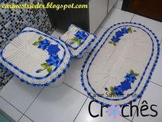 Carine Strieder e seus Crochês: Jogo de Banheiro