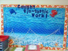 under the sea themed bulletin board ideas 4th Grade Classroom, New Classroom, Kindergarten Classroom, Classroom Themes, Ocean Themed Classroom, Preschool Math, School Displays, Classroom Displays, Under The Sea Images