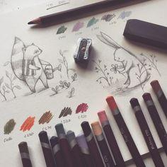 illustrator Nina Stajner. #illustration #art #cute #inspiration