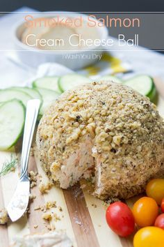 Smoked Salmon Cream Cheese Ball - LOVE cheese balls. I'll make this every day from now until christmas.