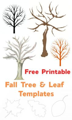 Free Printable Fall Leaf and Tree Templates - Emma Owl Leaves Template Free Printable, Fall Leaf Template, Free Printables, Fun Crafts For Kids, Toddler Crafts, Kid Crafts, Holiday Activities, Craft Activities, Autumn Crafts