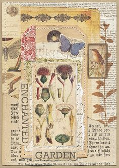 Love the collage on a book page. This just works together so well! The post Love the collage on a bo Nature Journal, Art Journal Pages, Art Journals, Garden Journal, Kunstjournal Inspiration, Art Journal Inspiration, Paper Collage Art, Paper Art, Art Doodle