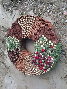 Christmas wreath Holiday wreath Advent by CadeauDeLaNature