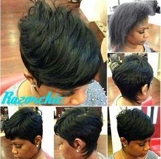 Classy style by Razor Chic Love Hair, Great Hair, Gorgeous Hair, Awesome Hair, Short Sassy Hair, Short Hair Cuts, Short Pixie, Pixie Cuts, Pompadour