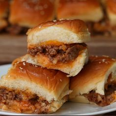 Food network recipes 247557310751156788 - Sloppy Joe Sliders by Tasty Source by Plats Ramadan, Beef Recipes, Cooking Recipes, Hamburger Recipes, Vegan Recipes, Recipies, Sloppy Joes Recipe, Sloppy Joe Recipe Pioneer Woman, Bon Appetit