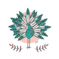 Shake Your Tail Feather by ArtbyKateG on Etsy