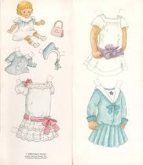Image result for Suzette Paper Doll of 1886 And Dorothy Paper Doll Of 1908