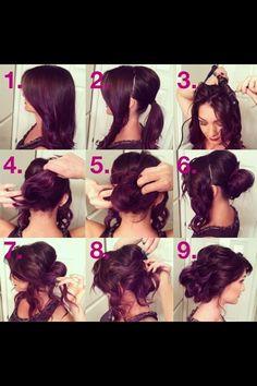 Bridesmaids hair- realllllyyy thick fast option
