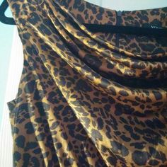 NWT-Cute XOXO Leopard Silk & Cotton Dress Chocolate & Leopard bodycon style dress from my besties boutique Dresses Mini