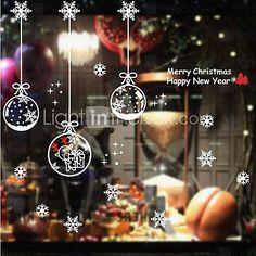 Venster van Kerstmis Parrel Ballen Patroon Stickers - EUR € 8.59