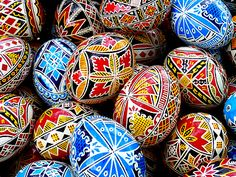 HAPPY EASTER !! Painted Easter eggs from Bukovina, Romania.