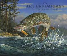 Fishing can be a great stress reliever. Find out more about fishing as a stress relieve, including tips on catching fish and staying safe. Pike Fishing, Kayak Fishing, Fishing Knots, Fish Artwork, Fishing Pictures, Time Tattoos, Wildlife Art, Camping Hacks, Canvas Art Prints