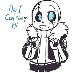 Blueberry wearing G!Sans' jacket. Definitely cool, but Blueberry, you've always been cool! ^_~