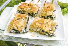 This traditional Greek spinach and feta cheese pie gets a healthier makeover - we've slashed the fat, salt and calories.