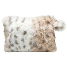 b648d1b3222c Snow Leopard Faux-Fur Beauty Pouches and Set