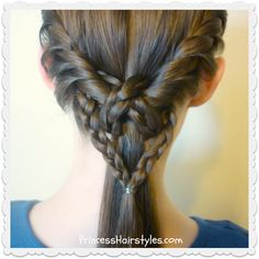 heart knot ponytail with twists