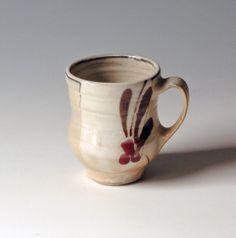 Beautiful handle Pottery Mug porcelain by NellHazinskiPottery on Etsy, $25.00