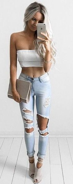 White + Denim + Nude                                                                             Source