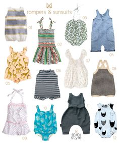 Sunsuits+ Rompers