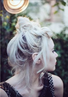 Messy quick updo...cute!